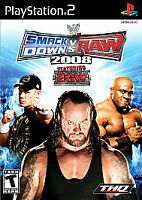 WWE Smackdown vs. Raw 2008 (Sony Playstation 2, PS2) Disc Only, Tested
