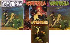 RARE EO  FRAZETTA + COLLECTIF ALBUM VAMPIRELLA N° 1 ( RELIURE ÉDITEUR N° 2-3-4 )