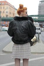 Design Damen Jacke Luxury jacket Boutique Wendejacke Fell 80er True VINTAGE 80s