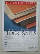 10/1991 PUB CIBA CEIGY COMPOSITES AEROSPACE AIRCRAFT FLOOR PANELS ORIGINAL AD