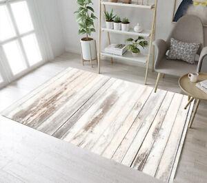 Rustic Vintage Old Wood Planks Yoga Carpet Floor Decor Mat Living Room Area Rugs