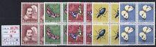 Svizzera - 1956 - Pro Juventute - MNH - nn.581/585 - Quartine