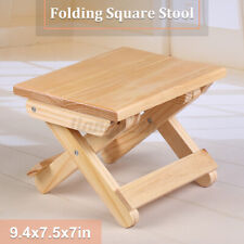 Wooden Stool Chair Fishing Rest Seat Bamboo Base Kitchen Bathroom Home