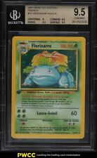 1999 Pokemon Base Set 1st Edition French Holo Venusaur Florizarre #15 BGS 9.5