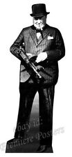 WINSTON CHURCHILL TOMMY GUN LIFESIZE CARDBOARD CUTOUT World War 2 prime minister