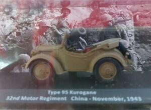 1/43. #23. de.TYPE 95 KUROGANE. 1943. SECOND WAR CARS. VEHIC II GUERRA MUNDIAL