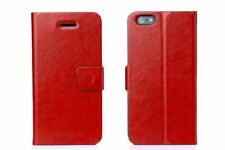 2x Pellicola + Custodia supporto agenda portafogli book per iPhone 6 4.7 Rosso