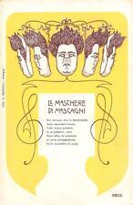 2507) LE MASCHERE DI MASCAGNI ILLUSTRATORE NASICA (A. MAJANI) DI BUDRIO.
