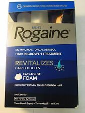 Rogaine Men's Hair Regrowth Treatment  Foam 3 Month Supply Unscented EXP 06/2019