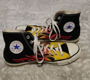 Vintage RARE Converse All Star Hightops 'Flame' 1H731 (US Mens 10 Womens 12)