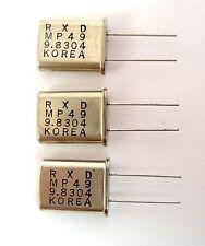 9.8304-Mhz Quartz Crystals: HC49U/HC18U: 3/Lot