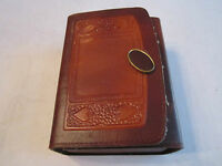 VTG SET OF CARDS WITH MINI SIZE POKER CHIPS IN LEATHER CASE - CARDS - NEW - OFCC
