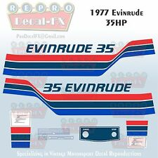 1977 Evinrude 35 HP Two Stroke Outboard Repro 12 Pc Marine Vinyl Decals 35702-03