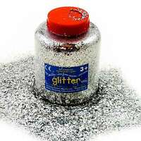Silver Glitter Shaker 100g 250g 400g Arts and Crafts High Quality!