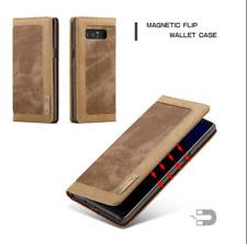 JEANS HandyHülle Tasche für Samsung Galaxy Note 8 Hülle Flip Case - Braun (6CBR)