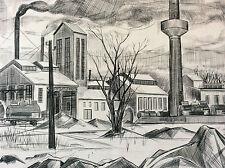 Estampe Pointe sèche Gardanne 1956