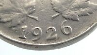 1926 Near 6 Six Canada 5 Cents Nickel Circulated George V Five Cents Coin Q089