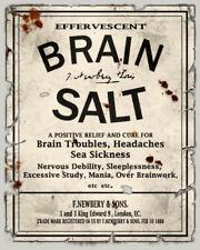 A5 Fridge Magnet - Vintage Headache Brain Salts (Picture Drugs Anatomy Medical)