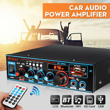 800W HIFI Digital Bluetooth Stereo Audio Amplifier SD FM Radio Mic Car Home UK