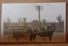 Postcard Social history Man In pony & Trap  Wales 1930's RPPC unposted b2
