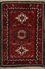 Geometric Tribal Traditional Oriental Area Rug Handmade Wool Square Carpet 2'x2'