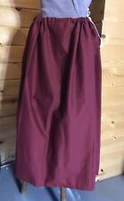 Rev War Colonial 18th Century Rust Red  Williamsburg Drawstring Petticoat Skirt