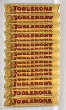 Toblerone Swiss Milk Chocolate With Honey & Almond Nougat Bars. 12 Pack