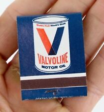 Original VALVOLINE MOTOR OIL Can Advertising Matchbook New Old Stock Vintage