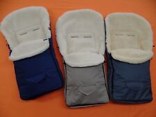 Footmuff Sheepskin Merino Wool 100% for Buggy Stroller Size 95cm 4 Colors NEW