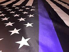 Thin Blue Line American Flag 3X5 Foot Honor Police 3 5 Brass Grommet Heavy Duty