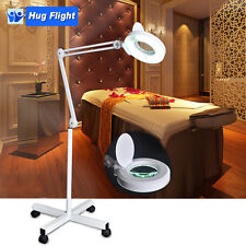 New Magnifying Lamp Glass Lens Magnifier Round Head on Stand 5D Beauty Salon Spa