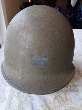 WW2 US Army Military M1 Helmet Shell Front Seam Swivel Bale FS SB RAISED BAR STR