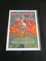 IRON MAIDEN : LEGACY OF THE BEAST TOUR 2020 BARCELONA : A4 GLOSSY REPO POSTER