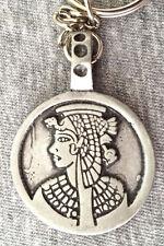 Egyptian goddess Pewter Keyring 30mm wide  KR0230