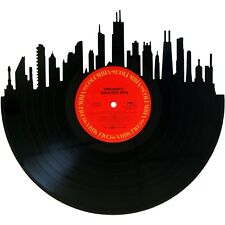 Chicago Skyline on Chicago Band Vinyl Record Art