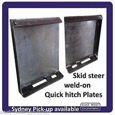 SKID STEER QUICK HITCH WELD-ON BRACKETS MOUNTING PLATES LH + RH pair QSS25-03/04