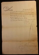 KING LOUIS XV AUTOGRAPH - PRISON at CREST (Valence, DROME) - 1760 Translated