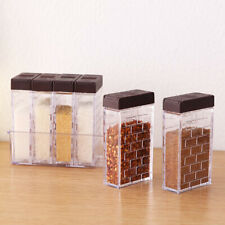 6pcs Seasoning Bottle Box Jar Condiment Storage Container Rack Herb Spice