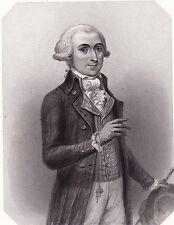Portrait XIXe François Buzot Évreux Révolution Française Convention Nationale