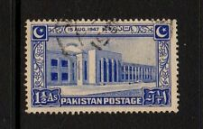 PAKISTAN 1948 1 1/2a BLUE - ASSEMBLY BUILDING - Fine Used