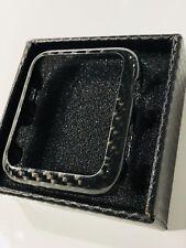 Caso de fibra de carbono real para Apple Watch 2 & 3 - 42 mm Series BRILLO