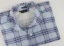 J. LINDEBERG IVALO SLIM PRINTED LUX JERSEY Men's L Flannel Casual Shirt 25182_JS