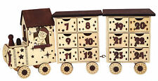 """Wooden """"antique look"""" Train Advent Calendar with two carriages."""