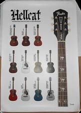 Fender Hellcat Guitar Promo Poster Tim Armstrong Rancid Timebomb Punk Acoustic