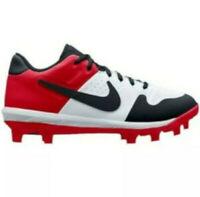 New Mens Nike Alpha Huarache Varsity Low TPU Baseball Cleat White/Red-Pick Size