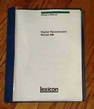 Lexicon Model 200 Vintage Owner's Manual