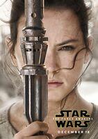 STAR WARS; THE FORCE AWAKENS Movie PHOTO Print POSTER Rey Daisy Ridley Jedi 009