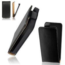 Etui façon Cuir Pochette Housse Rouge Flip Case Coque Noir Pour HTC One (M8)