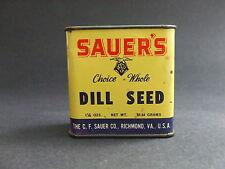 Sauer's Brand Dill Seed Spice Tin Vintage Advertising Richmond VA