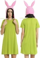 Licensed Louise Belcher Cosplay Halloween Costume With Dress And Bunny Ears Hat
